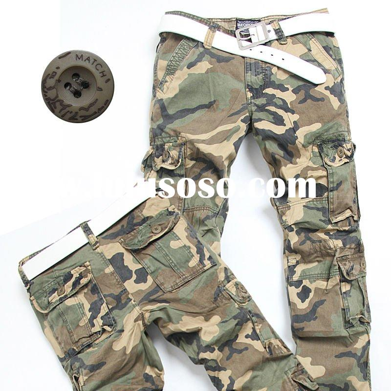 2011New style mens washed casual camouflage cargo pants cargo shorts jeans brands