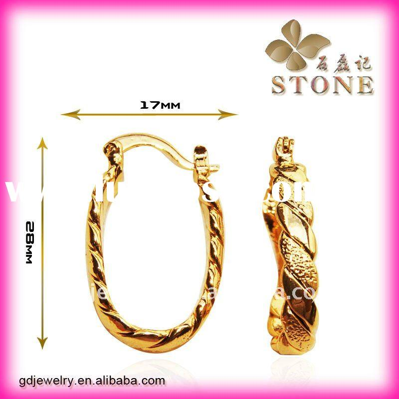 2011 China OEM 18 carat gold magnetic earring E2153