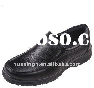 2011 high quality feet protection black steel safety shoes