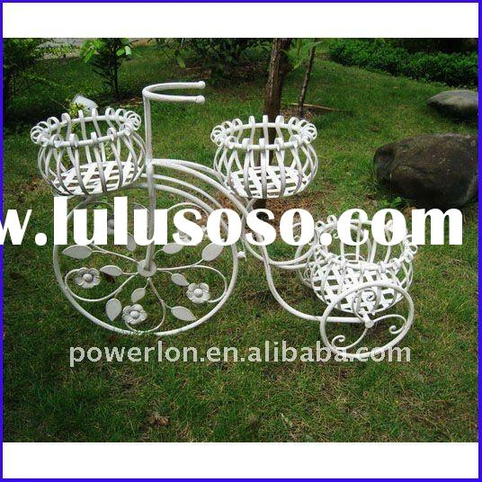 2011 new metal bicycle flower pot stand