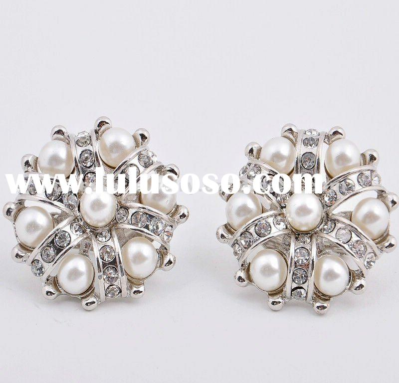 Diamond Pearl Earrings Designs Pearl And Diamond Designer