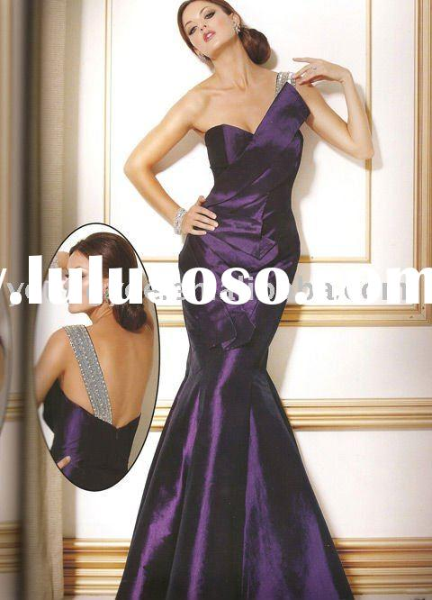 2012 famous desinger and 2011 lowest price one shoulder mermaid formal evneing dress(EVED1015)