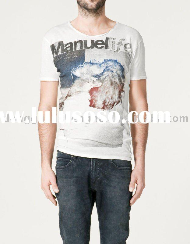 2012 men's cotton polo t-shirt printing OEM manufacturer