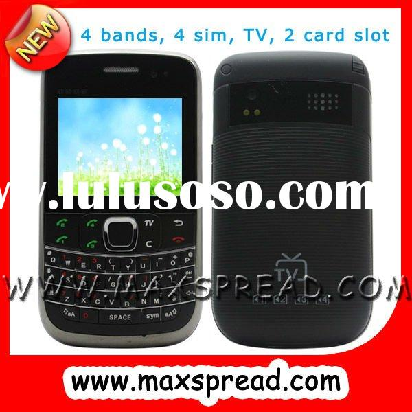 2 card slot 4 sim card mobile phone with TV