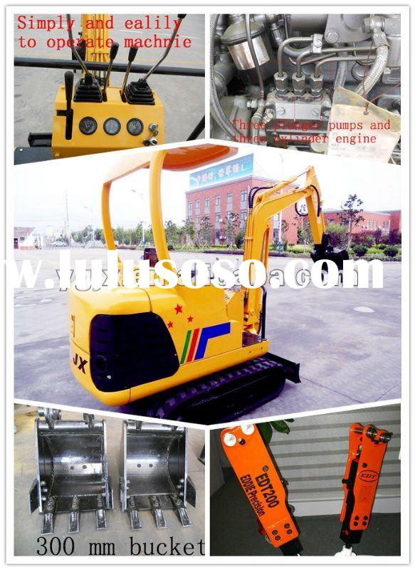 2 ton, 0.05 m3 ,mini caterpillar excavator,vally dam construction, mini grab, welled excavator