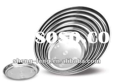 45cm Thickening Round Stainless steel Tray