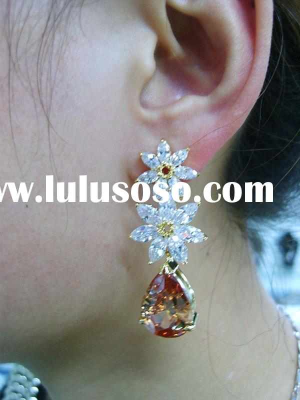 Arabic women dress/wedding earring/18K gold jewelry