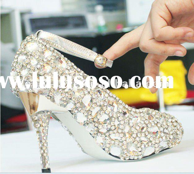 BS101 rhinestones crystals shoes ,wedding shoes bridal shoes high heel shoes