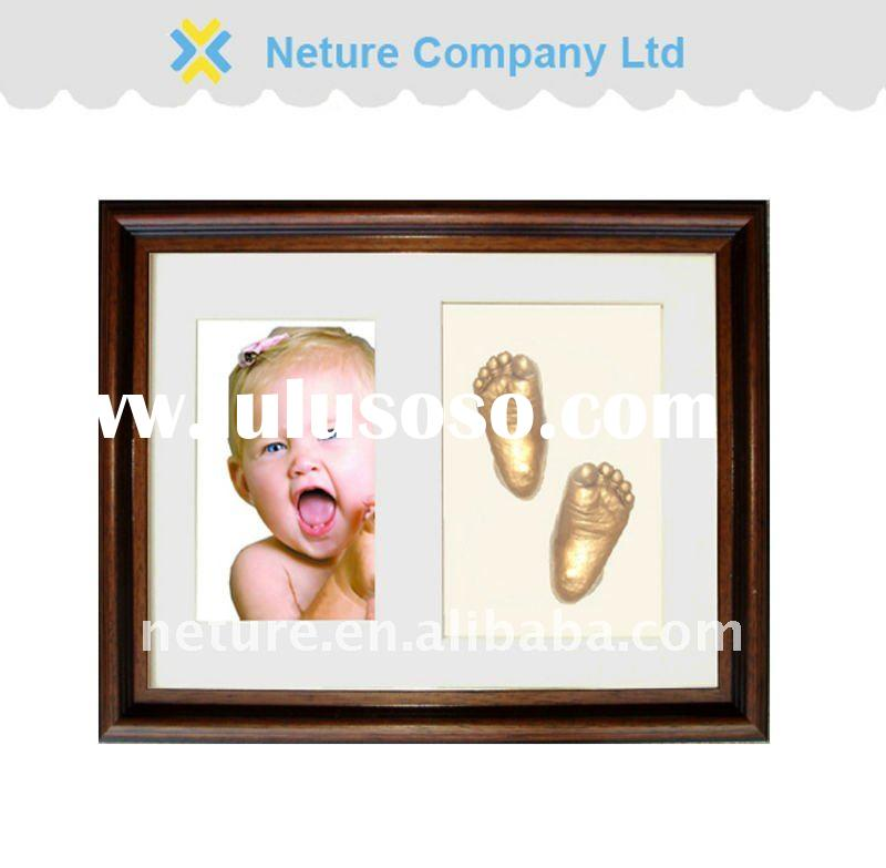 Baby 3D casting kit with photo frame