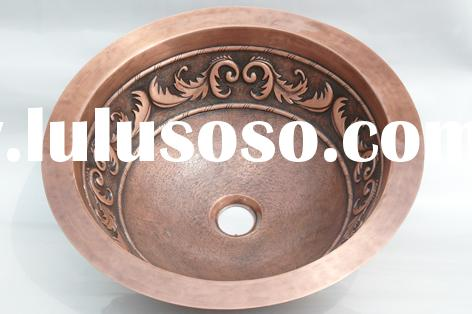 Bathroom Sinks,Copper Sinks,Copper Wash Basin,Copper Wash Sink,Copper Vessel Sink