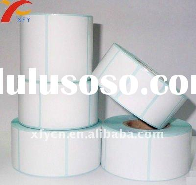 Blank adhesive label in roll