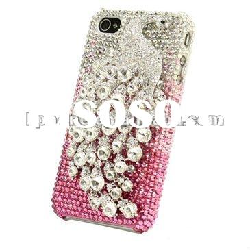 Bling diamond stone crystal case for apple iphone 4