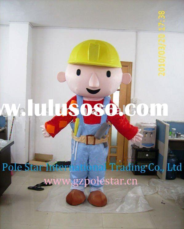 Bob The Builder Costume/Bob The builder Mascot/Boy Costume