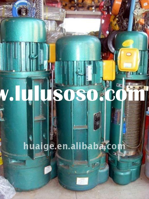 CD type 380V 3 phrases wire rope electric hoist