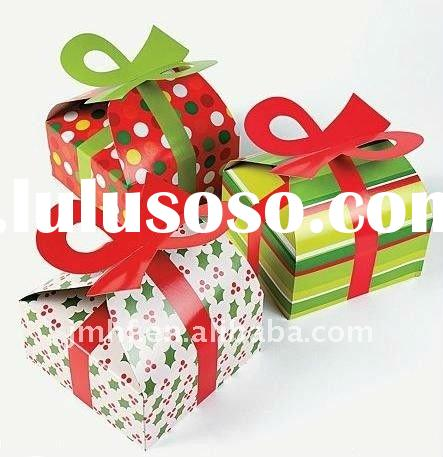 Christmas gift box with bow