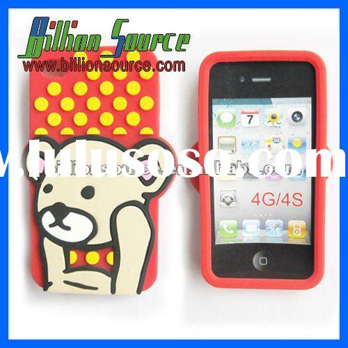 Cute for iphone 4 case Silicone or TPC material