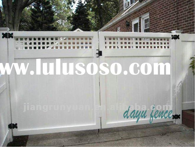 Decorative privacy gates and fence design