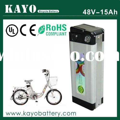 Electric bicycle kit, 48V 15Ah battery with charger, Al case and BMS, 30A discharge current