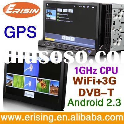 "Erisin Android 2.3 OS 7"" 2-DIN Auto DVD Player GPS Navi 3G WiFi Bluetooth MID CPU 1GHZ"