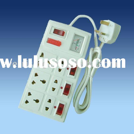 Extension socket / Electrical outlet / Power socket with voltage indicator