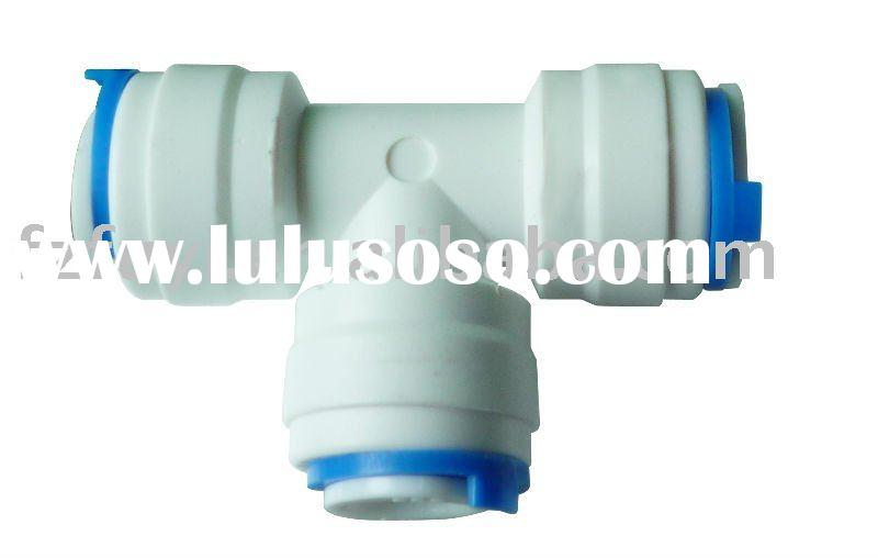 """FY007A(Union Tee adapter 1/4""""tube OD) Tee plastic tube connector of water purifier fittings"""
