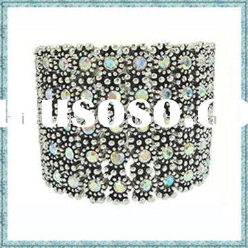 Fashion jewelry wholesale wide alloy crystals bangle