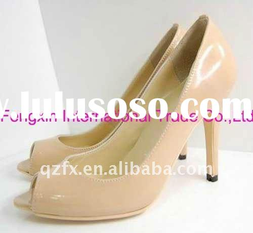 Fashion ladies shoes, patent leather dress shoes