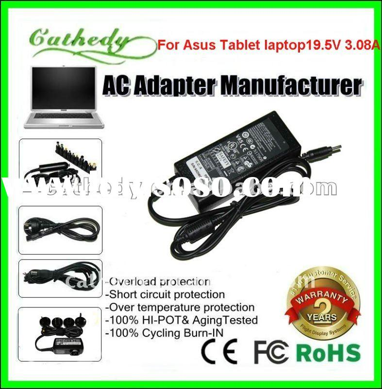 For ASUS EP121 tablet PC charger Slate PC ac adapter 60 Watt 19.5v 3.08a