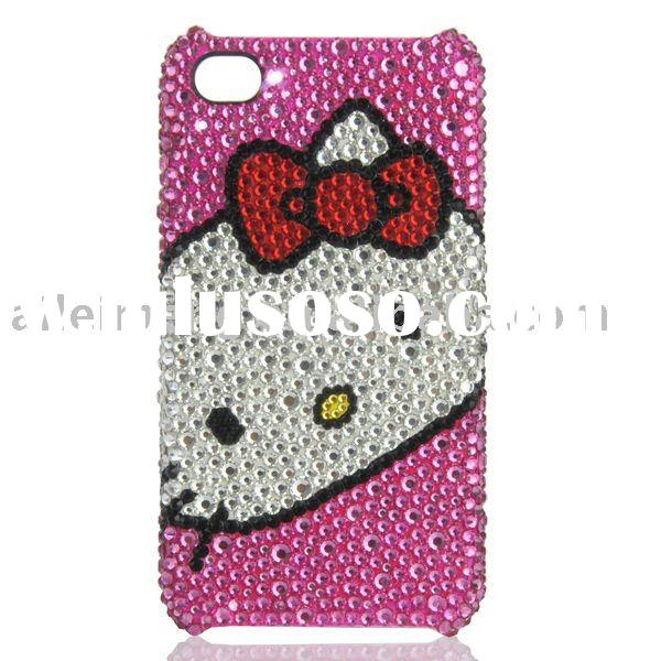 For Hello Kitty iPhone Case With Swarovski Crystal (4G-DDM12-2) Paypal