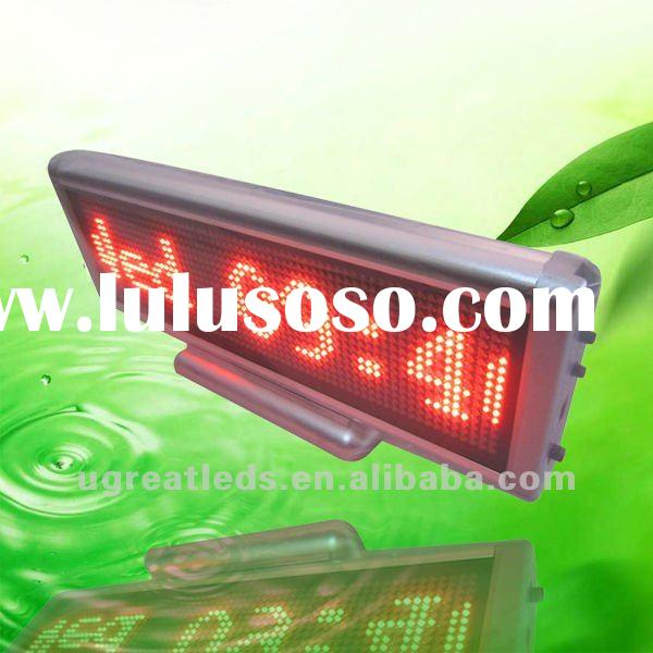 For exhibition counter using pitch 3mm 64x16dots smd0805 small led screen display indoor