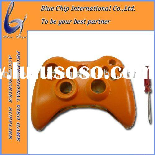 Full Housing Shell Case with Buttons for Wireless Xbox 360 Controller Orange