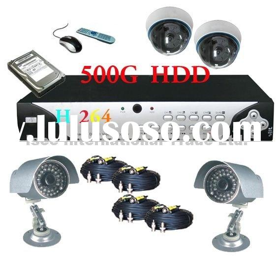 H.264 DVR Standalone 4 SONY CCD Camera Security system