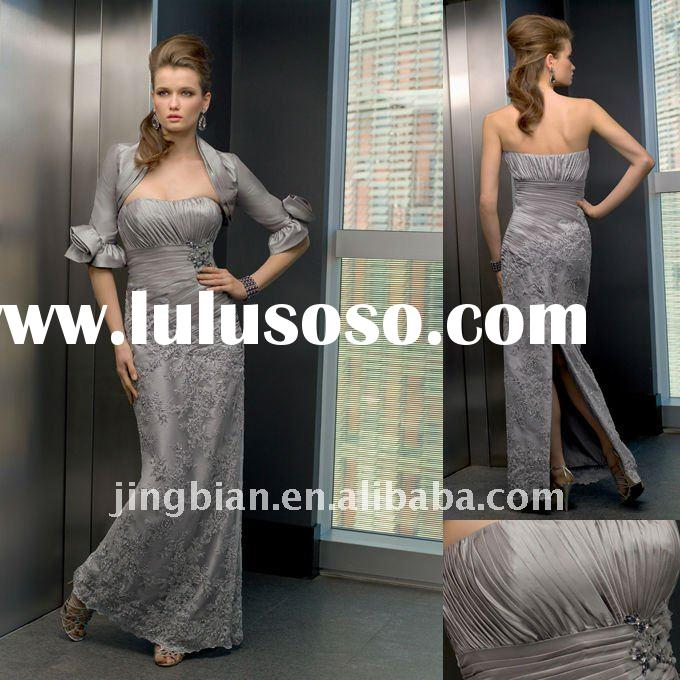 Hot Sell Classy Long Party Gown Custom mother of the bride Lace Evening dresses New Designs MOD62