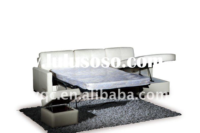 Hot sale good quality modern thick italian leather corner sofa bed 7155