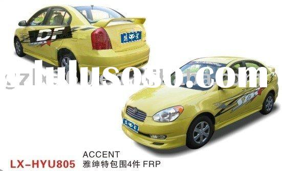 Hyundai Accent car fiberglass body kits (4 pieces)