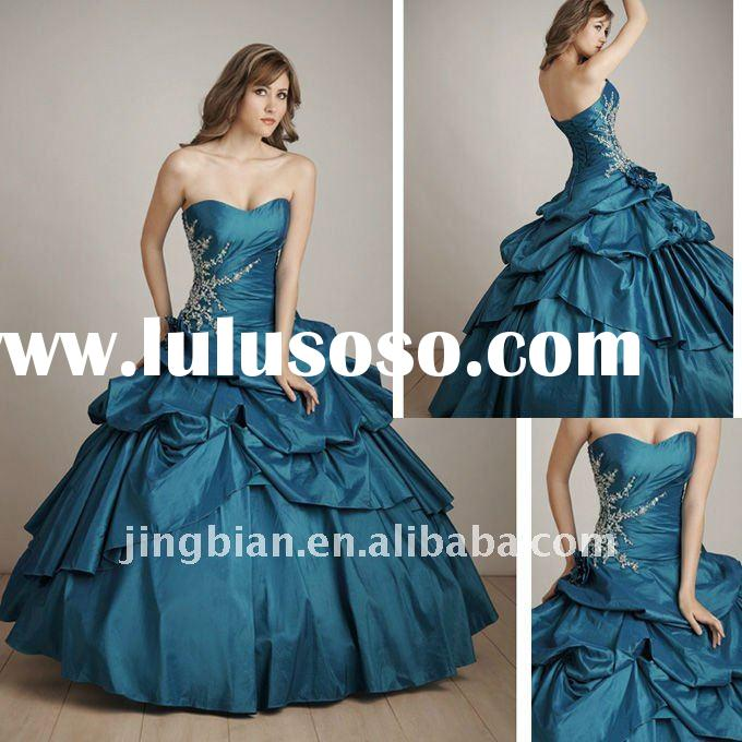Ice blue Sweetheart Ball gown Allure Quinceanera Dresses Wedding Dress SH331
