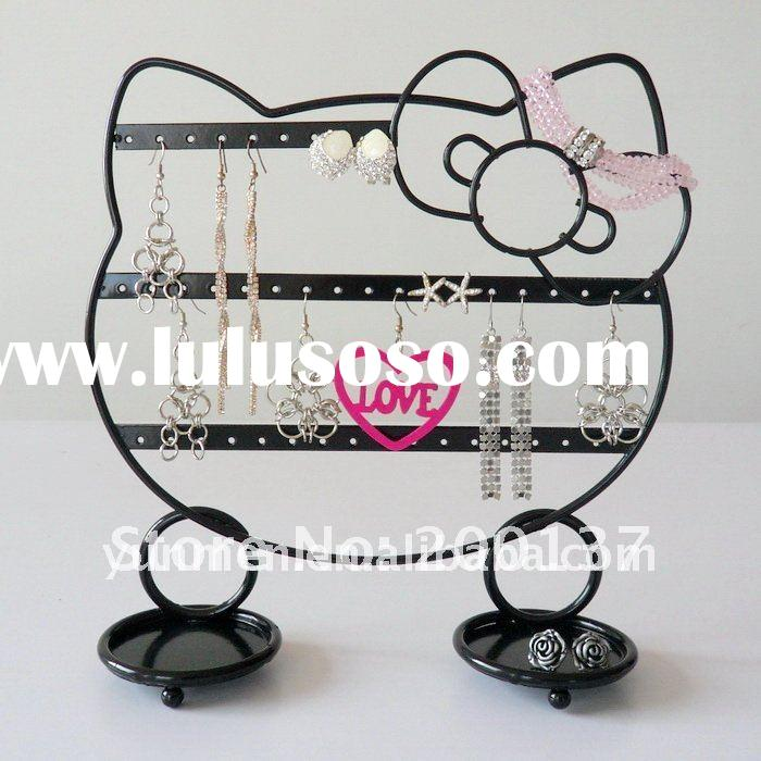 JD024 HELLO KITTY metal Iron Jewelry Display Stand holder earring stand