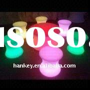 LED mood light plastic outdoor bar table