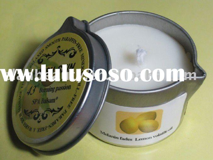 Lemon Massage Body-Candle massage oil, body lotion, candles, aromatherapy all in one