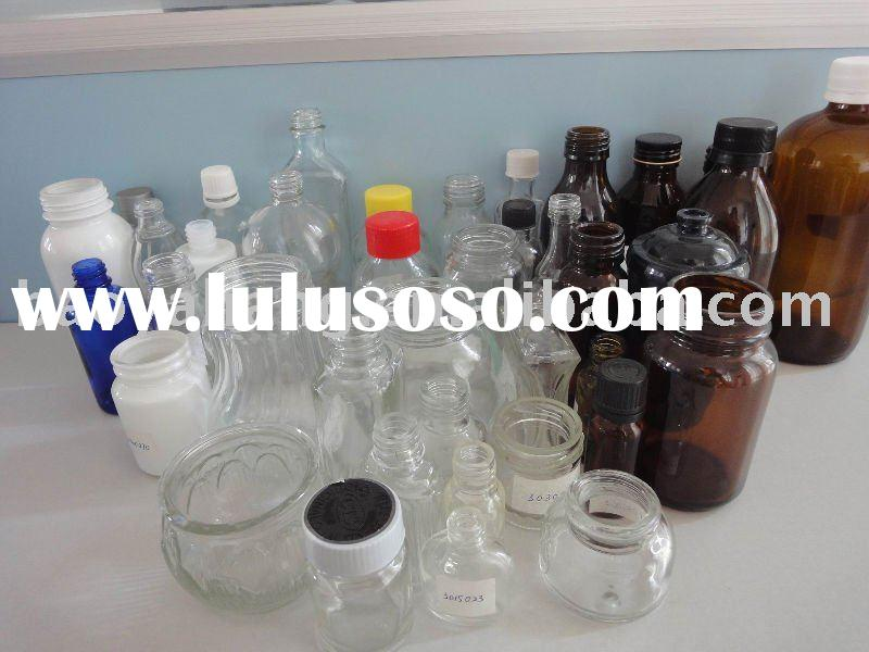 Medicine glass bottles with screw cap