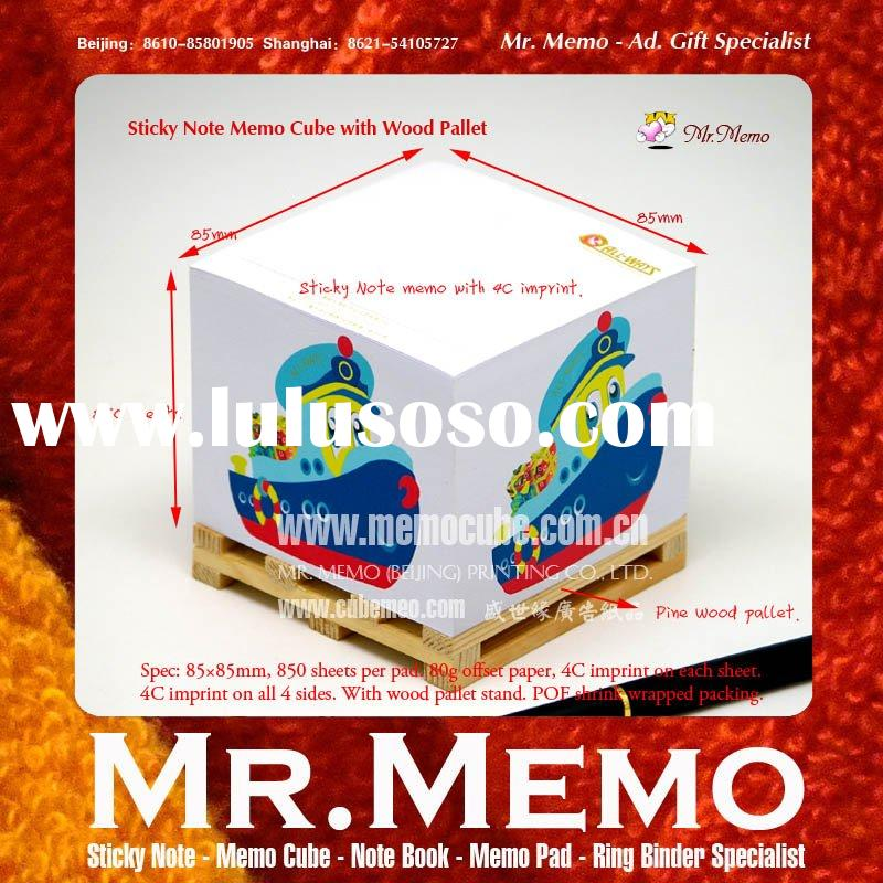 Memo Cube with Wood Pallet For Shipping Promotion
