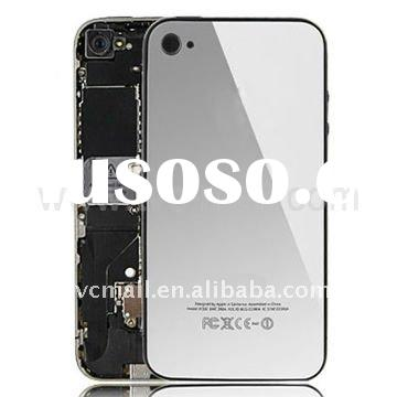 Mirror Silver Back Cover Housing for iPhone 4 (with Logo)