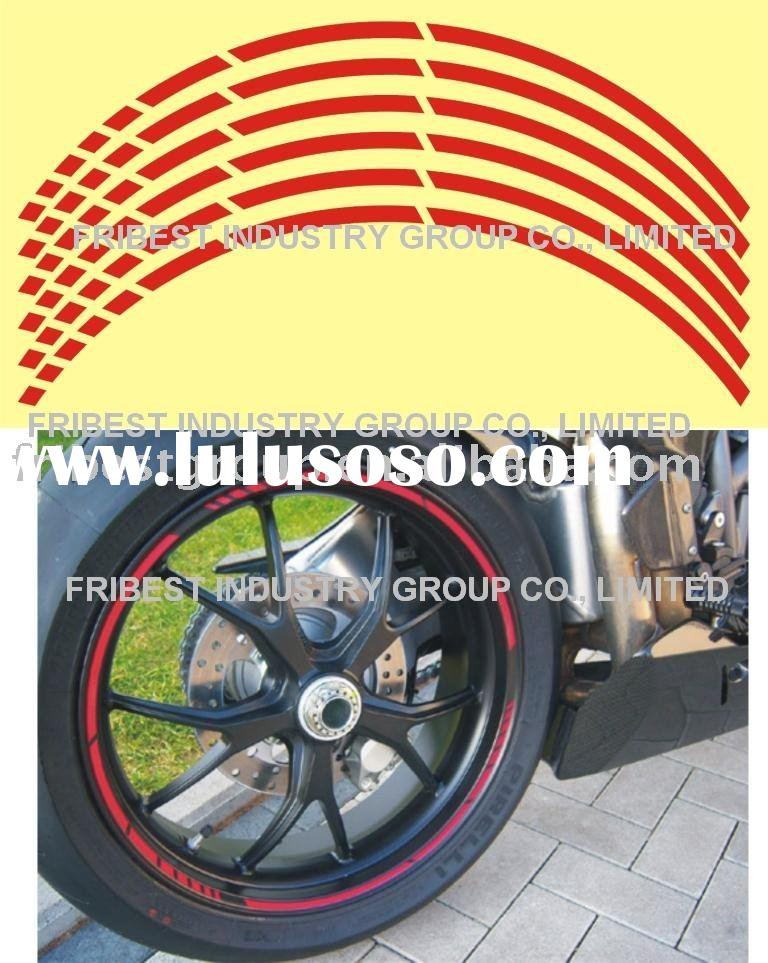 Motorcycle reflective rim stripe wheel sticker decal MOTOGP style