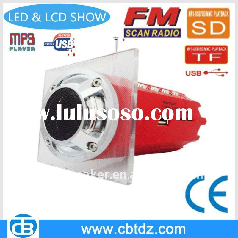 Newest LED mini Subwoofer MP3 Speaker with FM/SD/TF/MMC Card