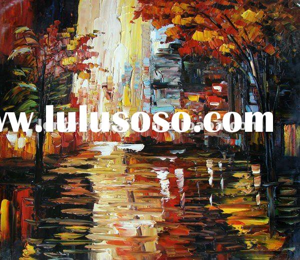 Oil Painting of Autumn Trees