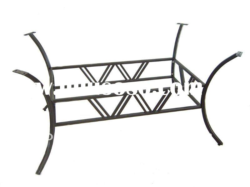 Outdoor Furniture Part Wrought Iron Dining Table Base
