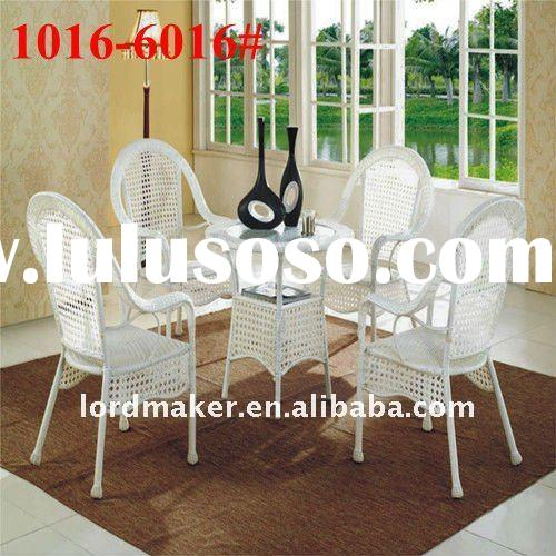 Outdoor rattan chair of white wicker furniture Garden Rattan Chair (1016#-6016#)