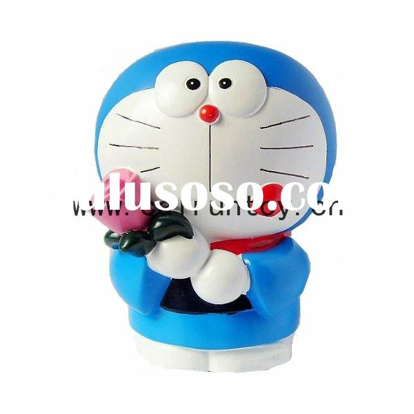 PVC fashion doll vinyl kid robot Doraemon action toy coin bank