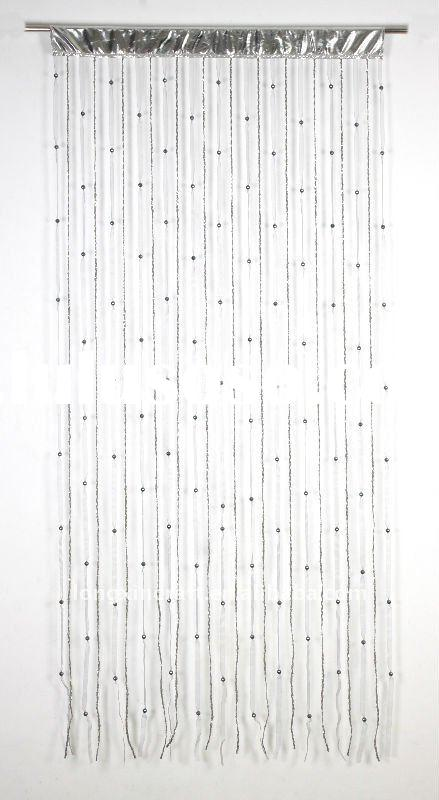 Polyeater and Plastic Beads String Curtain with Small Plasic Paillette