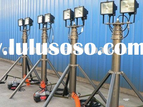Portable Telescopic Lighting Mast With Tripod/Field Erected Telescoping Mast/Telescoping Mast